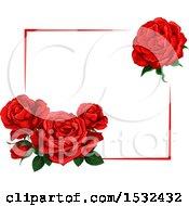 Poster, Art Print Of Red Rose Design
