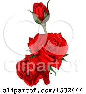 Clipart Of A Red Rose Design Royalty Free Vector Illustration by Vector Tradition SM