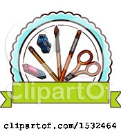 Clipart Of A Sketched Back To School Design Royalty Free Vector Illustration by Vector Tradition SM