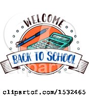 Clipart Of A Sketched Back To School Design Royalty Free Vector Illustration