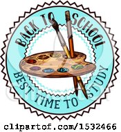 Clipart Of A Sketched Back To School Art Design Royalty Free Vector Illustration