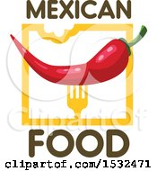 Mexican Food Red Pepper Design