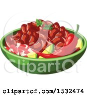 Clipart Of A Bowl Of Beans Royalty Free Vector Illustration by Vector Tradition SM