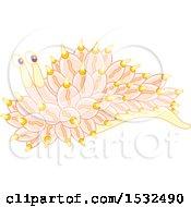 Pastel Yellow And Pink Sea Slug Nudibranch
