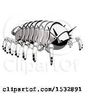 Clipart Of A Pillbug Robot Rear Angle View Royalty Free Illustration