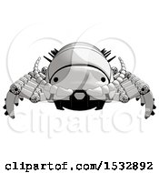 Clipart Of A Pillbug Robot Front View Royalty Free Illustration