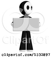 Clipart Of A Maskman Protesting And Holding A Sign Royalty Free Illustration