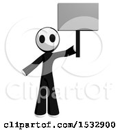 Maskman Protesting And Holding A Sign