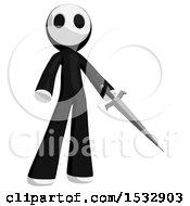 Maskman Stabbing Holding A Sword