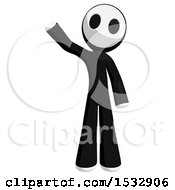 Clipart Of A Maskman Waving Royalty Free Illustration