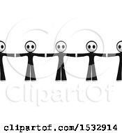 Row Of Masked Men