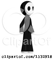 Clipart Of A Maskman Facing Slightly Right Royalty Free Illustration
