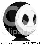 Clipart Of A Maskman Avatar Facing Right Royalty Free Illustration