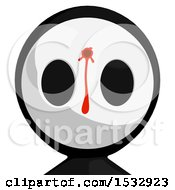Clipart Of A Maskman Avatar Shot And Bleeding In The Head Royalty Free Illustration