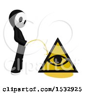 Maskman Pissing On An Illuminati Symbol