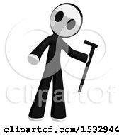 Maskman Holding A Cane