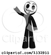 Clipart Of A Little Anarchist Waving Royalty Free Illustration by Leo Blanchette