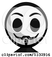 Clipart Of A Little Anarchist Avatar Royalty Free Illustration by Leo Blanchette