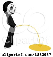 Clipart Of A Little Anarchist Pissing Royalty Free Illustration by Leo Blanchette