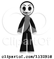 Clipart Of A Little Anarchist Royalty Free Illustration