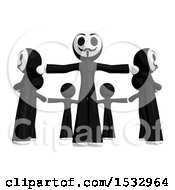 Poster, Art Print Of Group Of Little Anarchists In A Circle