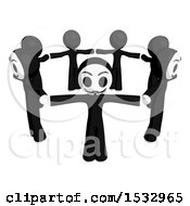 Clipart Of A Group Of Little Anarchists In A Circle Royalty Free Illustration