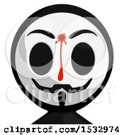 Clipart Of A Bleeding And Shot Little Anarchist Avatar Royalty Free Illustration by Leo Blanchette