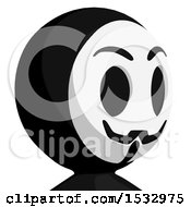 Clipart Of A Little Anarchist Avatar Facing Slightly Right Royalty Free Illustration