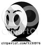 Clipart Of A Little Anarchist Avatar Facing Slightly Left Royalty Free Illustration