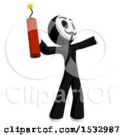 Clipart Of A Little Anarchist Holding A Stick Of Dynamite Royalty Free Illustration
