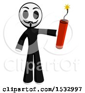 Clipart Of A Little Anarchist Holding A Stick Of Dynamite Royalty Free Illustration by Leo Blanchette