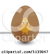 Chick On An Easter Egg