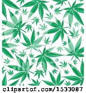 Poster, Art Print Of Green Marijuana Pot Leaf Background