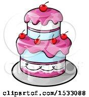Layered Cake With Cherries