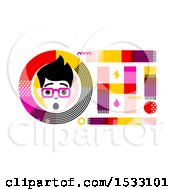 Clipart Of A Gasping Man In An Oh Design Royalty Free Vector Illustration by elena