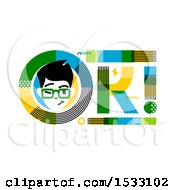 Clipart Of A Winking Man In An OK Design Royalty Free Vector Illustration by elena