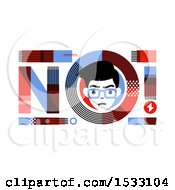 Clipart Of A Man In A No Design Royalty Free Vector Illustration by elena