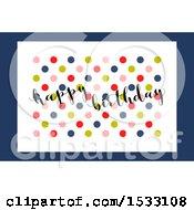 Happy Birthday Design With Polka Dots