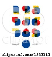 Clipart Of Retro Bauhaus Numbers Royalty Free Vector Illustration by elena