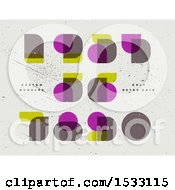 Clipart Of Retro Numbers In Neoclassical Didot Royalty Free Vector Illustration by elena
