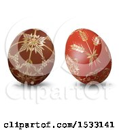 Clipart Of 3d Easter Eggs On A White Background Royalty Free Vector Illustration by dero
