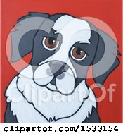 Clipart Of A Painting Of A Dog Royalty Free Illustration