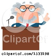 Clipart Of A Male Science Professor Giving A Speech Royalty Free Vector Illustration