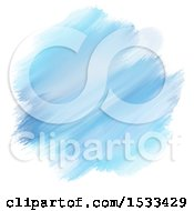 Poster, Art Print Of Watercolor Painting Of Blue Strokes On White