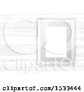Clipart Of A Blank Picture Frame On White Wood Royalty Free Vector Illustration
