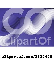 Clipart Of A 3d Fluid Wave On Purple Royalty Free Vector Illustration