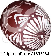 Clipart Of A 3d Patterned Easter Egg Royalty Free Vector Illustration by dero