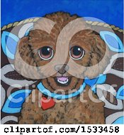 Poster, Art Print Of Painting Of A Cute Little Dog