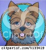 Clipart Of A Painting Of A Cute Silky Terrier Dog Royalty Free Illustration