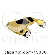 Futuristic Golden Concept Car With A Neat And Fast Design